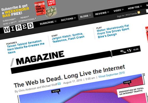 Il web è morto...dal parecchio!