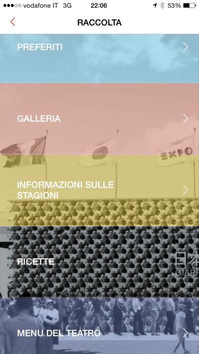 La schermata della app dopo la visita