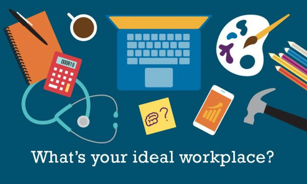 Ideal workplace infographic cover